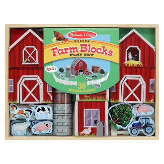 Picture of Farm Blocks Wooden Play Set