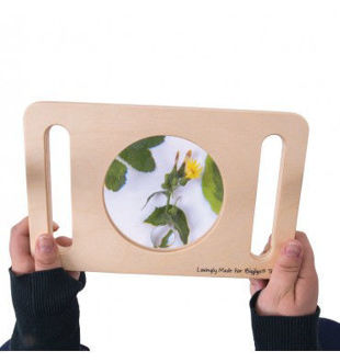 Picture of Wooden Educational Two Handed Magnifying Glass