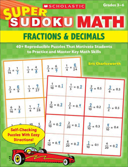 Picture of Super Sudoku Math Fractions & Decimals Grades 3-6
