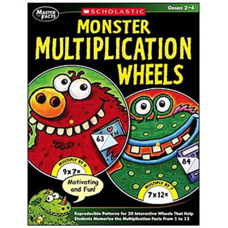 Picture of Master The Facts Monster Multiplication Wheels