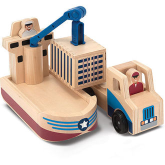 Picture of WHITTLE WORLD - CARGO SHIP & TRUCK SET