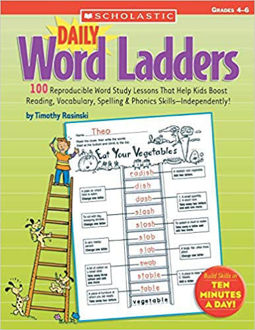 Picture of Daily Word Ladders: Grades 4–6: 100 Reproducible Word Study Lessons That Help Kids Boost Reading, Vocabulary, Spelling & Phonics Skills―Independently! Paperback