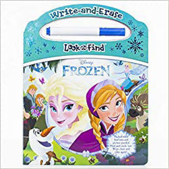 Picture of Disney Frozen - Write-and-Erase Look and Find - Wipe Clean Learning Board - (Board book)
