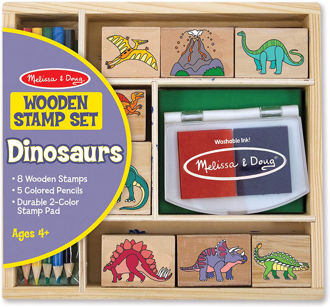 Picture of Wooden Stamp Set: Dinosaurs