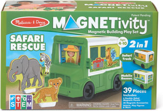 Picture of Magnetivity Magnetic Building Play Set - Safari Rescue Truck