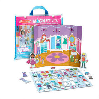 Picture of Magnetivity Magnetic Dress-Up Play Set - Dress & Play Fashion