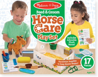 Picture of Feed & Groom Horse Care Play Set