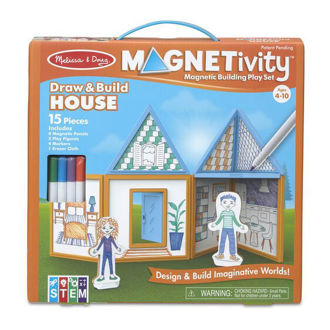 Picture of Magnetivity Magnetic Building Play Set- Draw & Build House