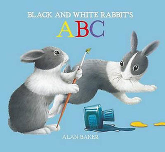 Picture of BLACK AND WHITE RABBIT'S ABC (H.B.)
