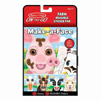 Picture of Make-a-Face Farm Reusable Sticker Pad