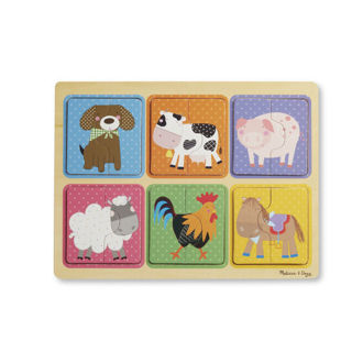 Picture of Natural Play Wooden Puzzle: Farm Friends