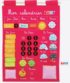 Picture of Calendar Panel - Pink - LUDI - FRENCH