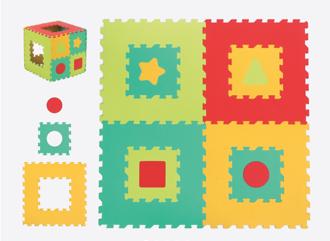 Picture of Geometric Eva Mat - Baby Play - Ludi