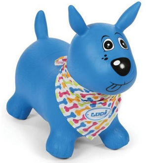 Picture of Blue Bouncing Dog - Baby Ride on - Ludi