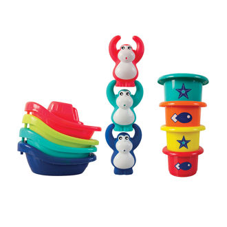 Picture of Set Boat/Stackers - Baby  Play - Ludi