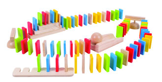 Picture of Domino Run- Wooden Toy - BigJigs