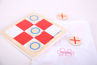 Picture of Noughts and Crosses with pouch - Wooden mini Board Games - BigJigs