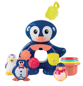 Picture of Bath Box Penguin - Baby Toys - Bath Toys - Ludi Toys