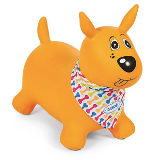 Picture of Jumping Dog Yellow - Baby Play - Ride on - Ludi Toys
