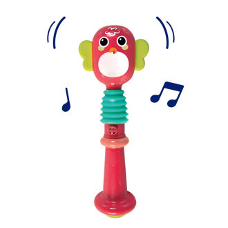 Picture of Owl Rattle - Baby Toys - Baby Rattle - Red Rattle - Ludi