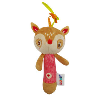 Picture of Baby Rattle - Brown - Soft Toys - Baby toys - Ludi
