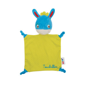 Picture of Plush Cuddly Blanket - Blue and Green Soft Toy - Baby Toy - Ludi