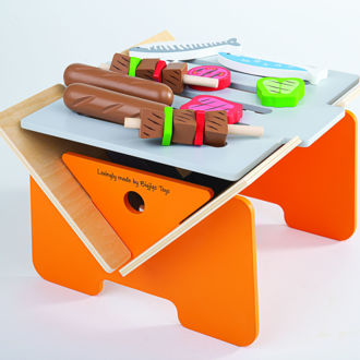 Picture of Wooden Tabletop BBQ Playset - Wooden Pretend Toys - BigJigs