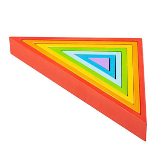 Picture of Wooden Staching Triangles - Wooden Triangles - Educational Toys - BigJigs