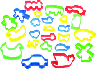 Picture of Jar of Pastry Cutters - Colorful Children Cutters  - BigJigs