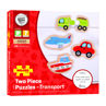Picture of Two Piece Puzzles - Transport - Wooden Puzzle - BigJigs