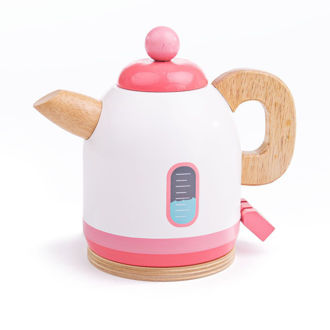 Picture of Wooden Pink Kettle - Pretend Toy - BigJigs
