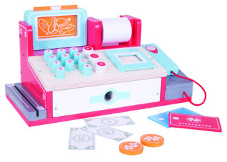 Picture of Shop Till with Scanner - Wooden - Pretend Play - BigJigs