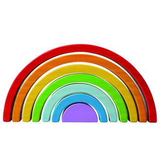 Picture of Wooden Stacking Rainbow - Small - Educational Toys - BigJigs