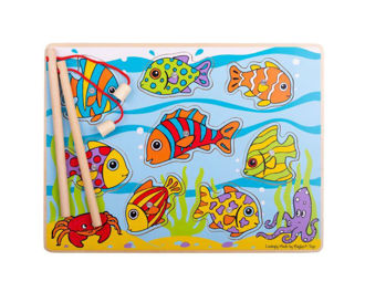 Picture of Tropical Magnetic Fishing Game - Wooden/Magnetic - Educational Toys - BigJigs