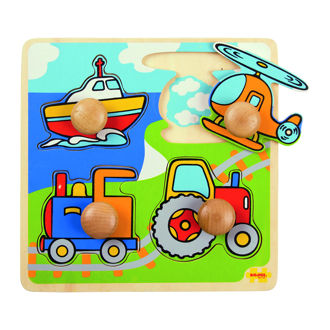 Picture of My First Peg Puzzle Transport - Wooden Puzzle - BigJigs