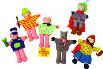 Picture of Finger Puppets - Red Riding Hood - BigJigs