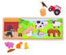 Picture of Magnetic Board - Farm - Wooden Educational Toys - BigJigs