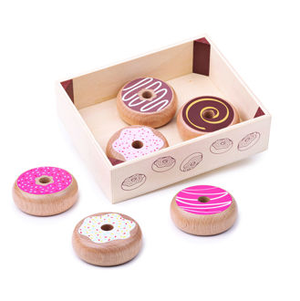 Picture of Donghnut Crate  - Wooden Pretend Toys - BigJigs