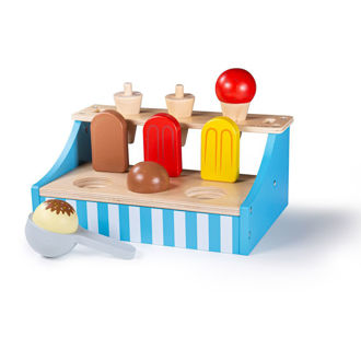 Picture of Ice Cream Stand - Wooden Pretend Toys - BigJigs