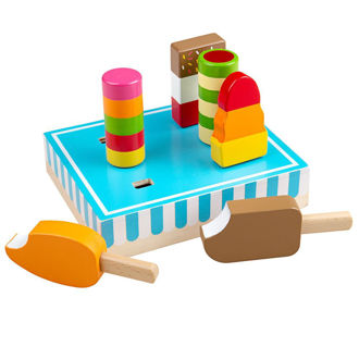 Picture of Ice Lollies - Wooden Pretend Toys - BigJigs