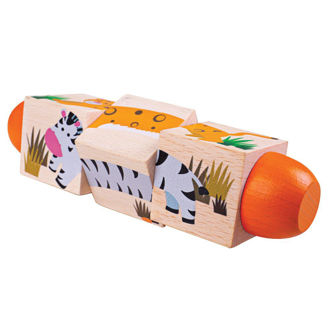 Picture of Jungle Twist Blocks - Educational Toys - Baby Toys - Baby Play - BigJigs