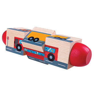 Picture of Vehicle Twist Blocks - Wooden Educational Toys -Baby Toys - Baby Play - BigJigs