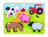 Picture of Chunky Lift Out Farm - Wooden Puzzles - BigJigs