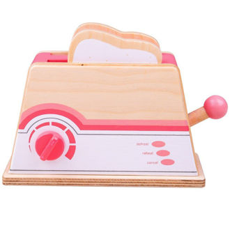 Picture of Pink Toaster - Wooden Pretend Play - BigJigs