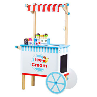 Picture of Ice Cream Cart - Wooden Pretend Play - BigJigs