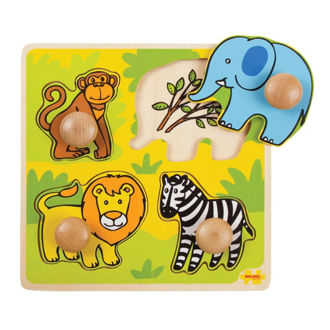 Picture of My First Peg Puzzle - Safari - Wooden Puzzle - BigJigs