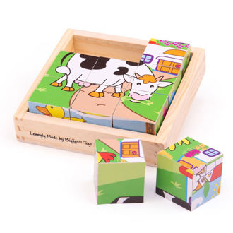Picture of Animal Cube Puzzle - Wooden Puzzles - BigJigs
