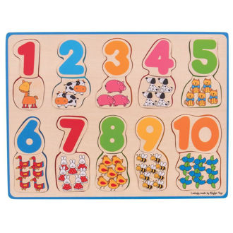 Picture of Number and Colour Matching Puzzle - Wooden Puzzle - BigJigs