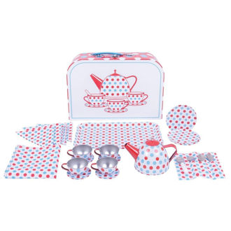Picture of Tin Tea Set in a Case - Pretend Play - Play House - BigJigs