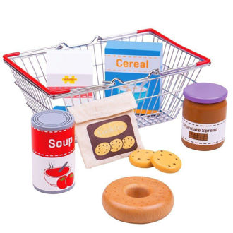 Picture of Grocery Basket - Pretend Play - Play House - BigJigs